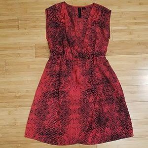 Petticoat Alley Faux Wrap Cinched Waist Dress